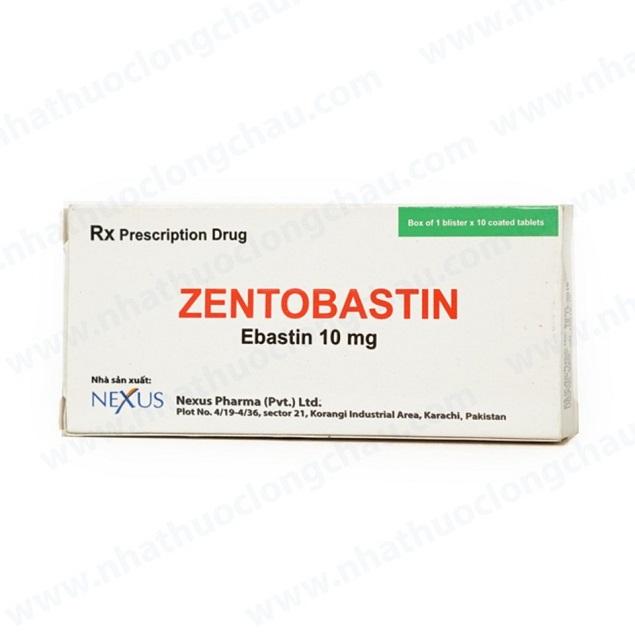 Thuốc Zentobastin 10mg Ebastine điều trị viêm mũi dị ứng