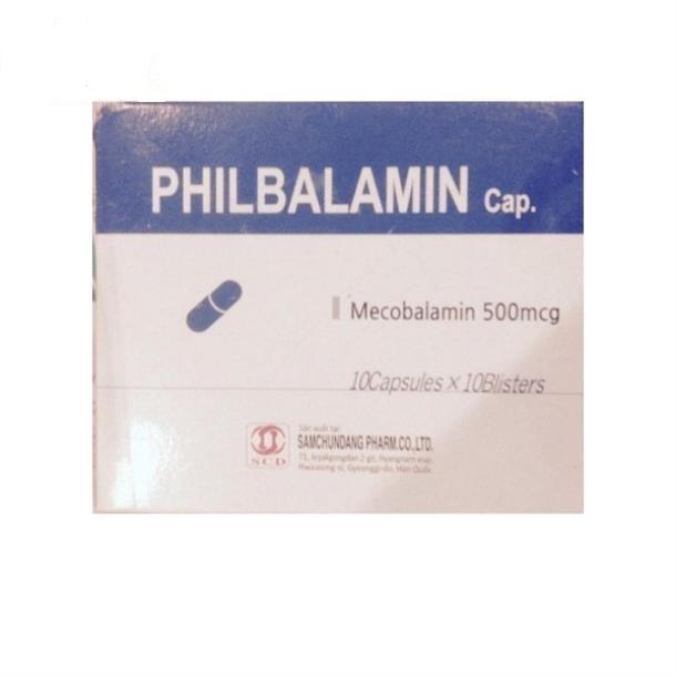 Thuốc Philbalamin cap 500mcg Mecobalamin điều trị các bệnh lý thần kinh ngoại biên