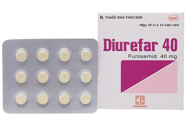 Thuốc lợi tiểu Diurefar 40mg Furosemid