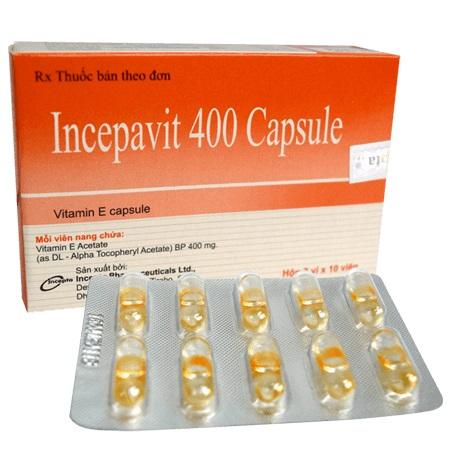 Thuốc Incepavit 400 Capsule bổ sung khoáng chất và vitamin
