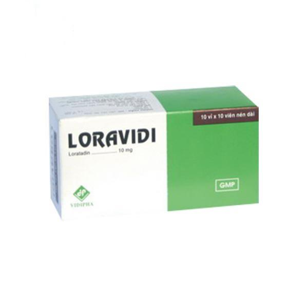 Thuốc Loravidi 10mg Loratadin chữa trị các triệu chứng viêm mũi dị ứng