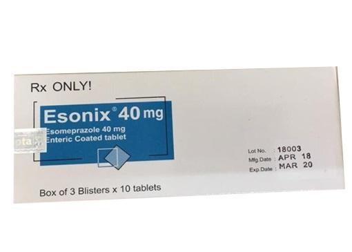 Thuốc Esonix 40mg Esomeprazole điều trị loét dạ dày - tá tràng