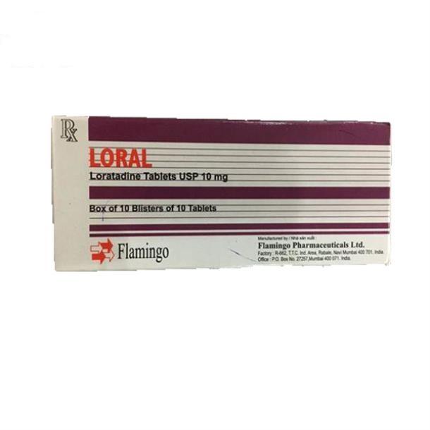 Thuốc Loral 10mg Loratadine điều trị viêm mũi dị ứng, mề đay, viêm kết mạc