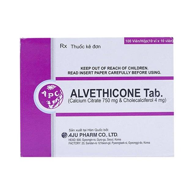 Thuốc Alvethicone tab phòng và điều trị loãng xương