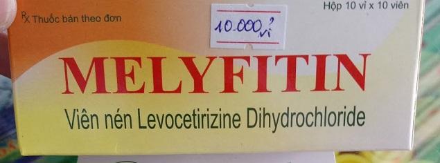 Thuốc Melyfitin 5mg Levocetirizine dihydrochloride điều trị các trường hợp dị ứng