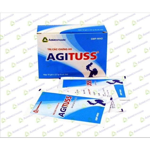 Thuốc Agituss điều trị ho khan, ho do dị ứng, ho do cảm lạnh, cúm, viêm họng