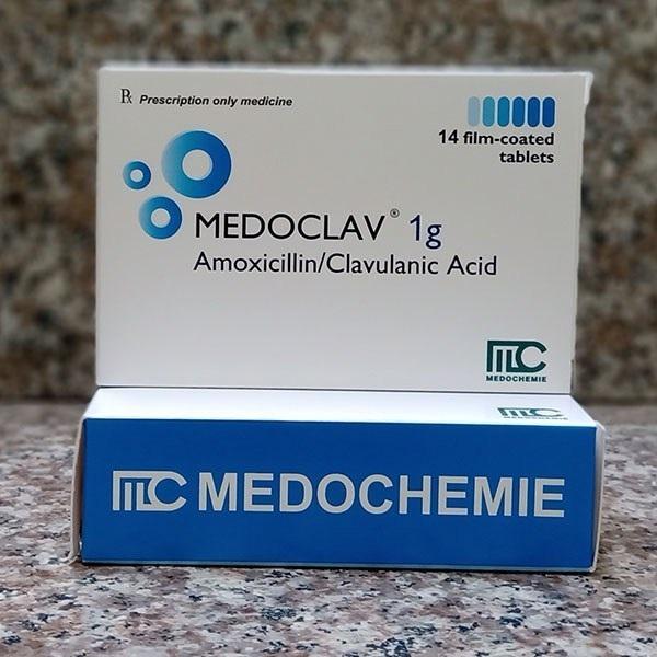 Thuốc Medoclav 1g Amoxicilin/Acid clavulanic điều trị nhiễm khuẩn