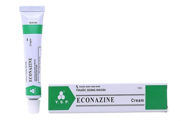Thuốc Econazine 10g Econazole, Triamcinolone điều trị tại chỗ các bệnh viêm da do các sinh vật nhạy cảm