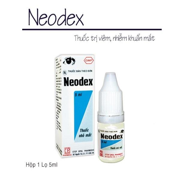 Thuốc Neodex 5ml Dexamethasone, Neomycin điều trị nhiễm khuẩn ở mắt, mũi, tai