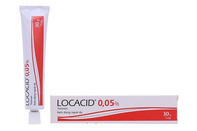 Thuốc Locacid Cream 0.05% 30g Tretinoin điều trị mụn