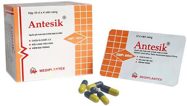 Thuốc Antesik điều trị viêm đại tràng, tiêu chảy, kiết lỵ