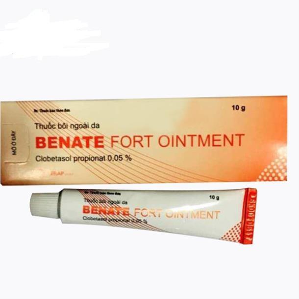 Thuốc Benate fort ointment 2,5mg Clobetasol propionat thuốc sát khuẩn