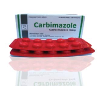 Thuốc Carbimazole 5mg điều trị triệu chứng cường giáp