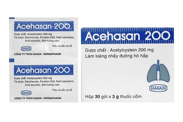 Thuốc Effer - Acehasan 200 điều trị tiêu chất nhầy trong bệnh lý hô hấp