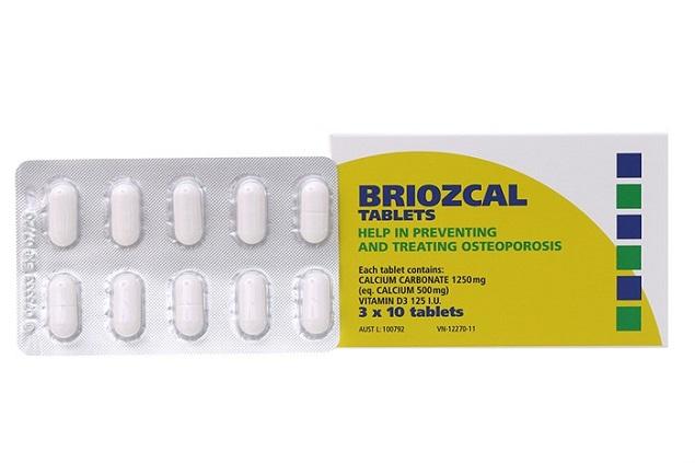 Thuốc Briozcal bổ sung canxi, vitamin D3