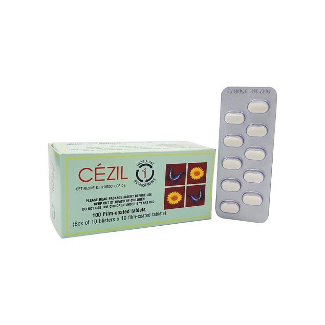 Thuốc Cezil kid 5mg Cetirizin hydrochlorid chống dị ứng, không gây buồn ngủ