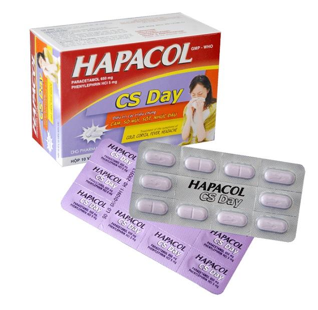 Thuốc Hapacol CS Day điều trị các triệu chứng cảm cúm