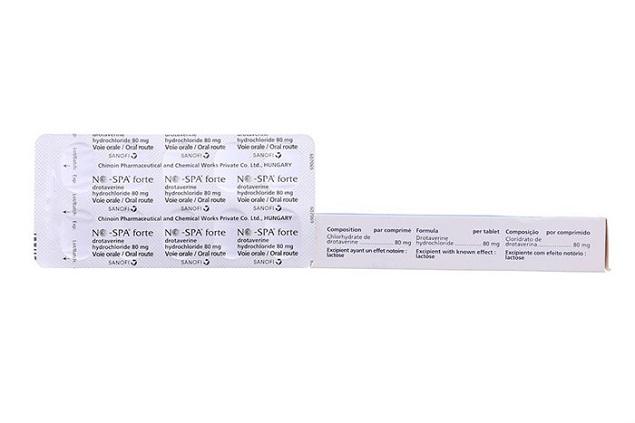 Thuốc No Spa forte 80mg/4ml Drotaverine chống co thắt cơ trơn