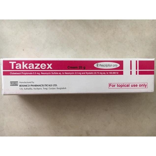Thuốc Takazex 0,5mg Clobetasol propionate điều trị các bệnh ngoài da, đặc biệt là bệnh chàm