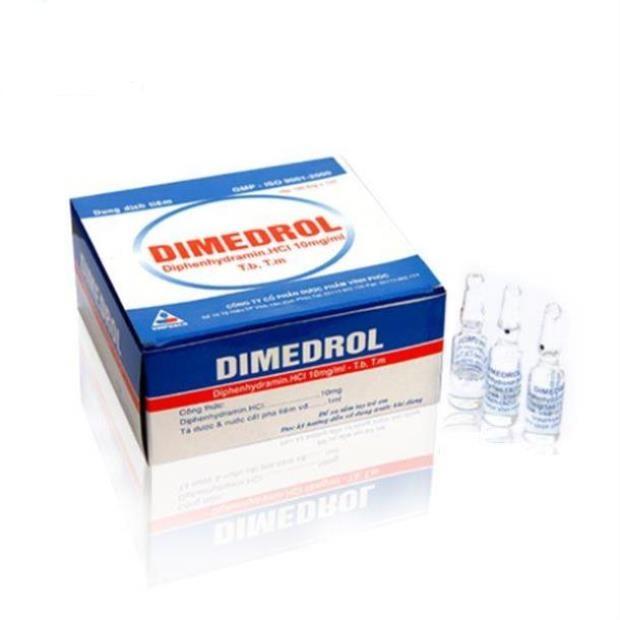 Thuốc Dimedrol 10mg/ml Diphenhydramin hydroclorid điều trị các bệnh do dị ứng
