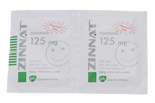 Thuốc Zinnat Suspension 125mg/5ml Cefuroxime điều trị nhiễm khuẩn