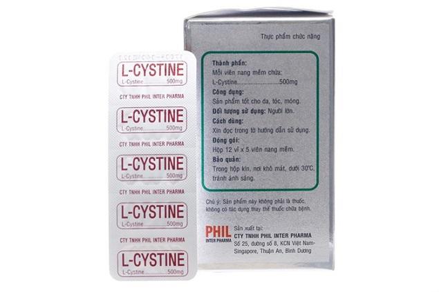 Thuốc L-Cystine điều trị sạm da, viêm da dị ứng, rụng tóc hay tổn thương giác mạc