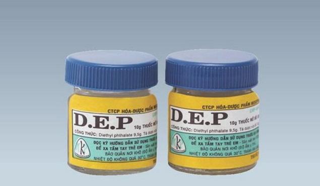 Thuốc mỡ D.E.P 5,2g Diethyl phtalat phòng ngừa và điều trị bệnh ghẻ ngứa