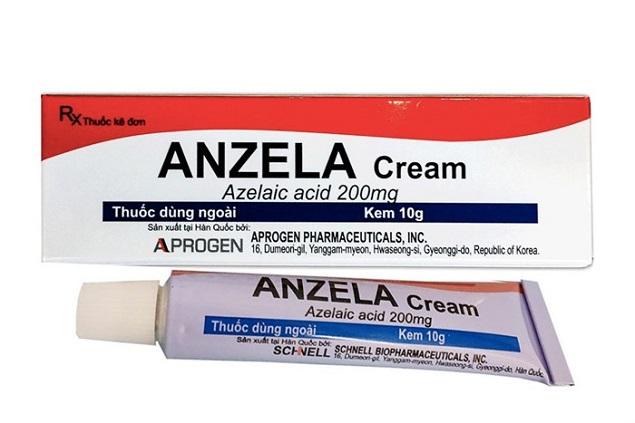 Thuốc Kem Anzela điều trị tại chỗ chứng viêm da do trứng cá sẹo mức độ nhẹ và vừa