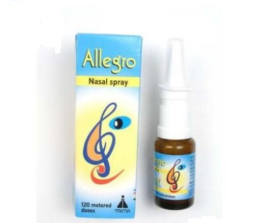 Thuốc Allegro Nasal Spray 50mcg Fluticasone propionat điều trị chứng viêm mũi dị ứng lâu năm ở trẻ 4 tuổi trở lên