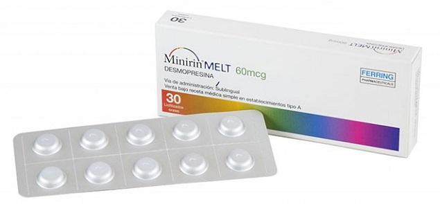 Thuốc Minirin Melt Oral Lyophilisate 60mcg Desmopressin điều trị đái tháo nhạt trung ương