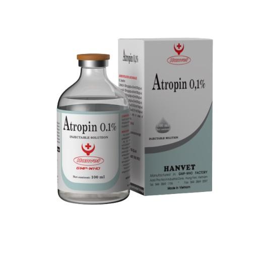 Thuốc Atropin sulfat 0,1% làm giảm co thắt và tăng động trong các bệnh lý đường tiêu hóa, tiết niệu