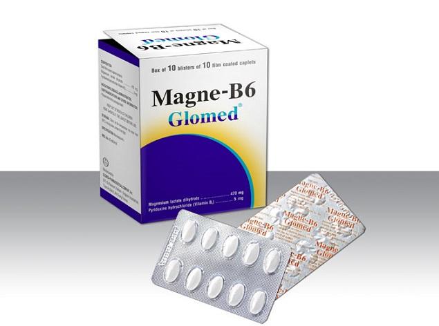 Thuốc Magnesi-B6 Glomed điều trị các trường hợp thiếu Magnesi