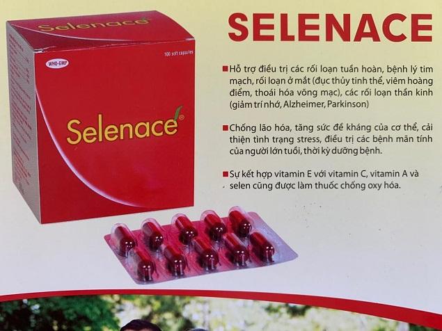 Thuốc Selenace chống lão hóa, tăng sức đề kháng của cơ thể, cải thiện tình trạng stress
