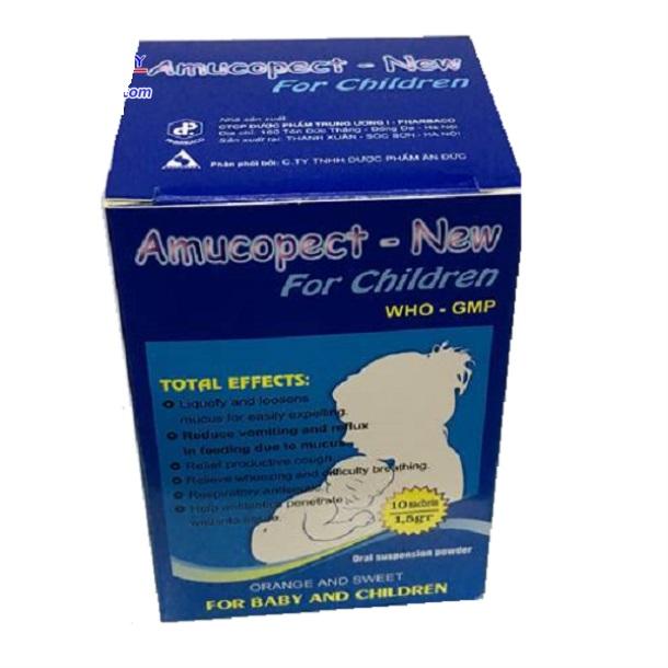 Thuốc Amucopect- New chữa ho, long đờm trong điều trị viêm phế quản cấp hay mãn tính