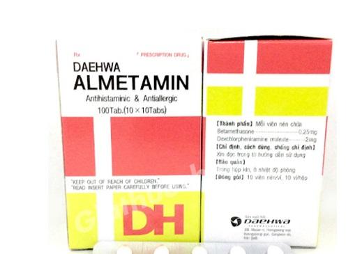 Thuốc Almetamin điều trị dị ứng