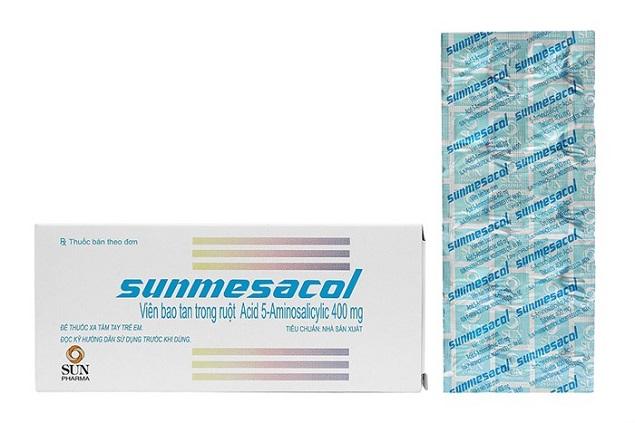 Thuốc Sunmesacol 400mg Mesalamine điều trị viêm loét đại tràng