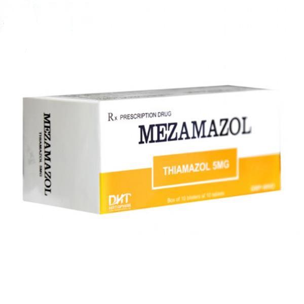 Thuốc Mezamazol 5mg Thiamazol điều trị triệu chứng cường giáp