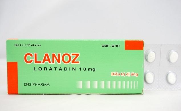 Thuốc Clanoz 10mg Loratadine điều trị các triệu chứng liên quan đến viêm mũi dị ứng