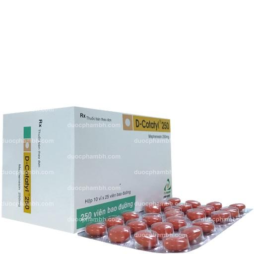 Thuốc D.Cotatyl 250mg Mephenesin điều trị bệnh lý thoái hóa cột sống và các rối loạn tư thế cột sống