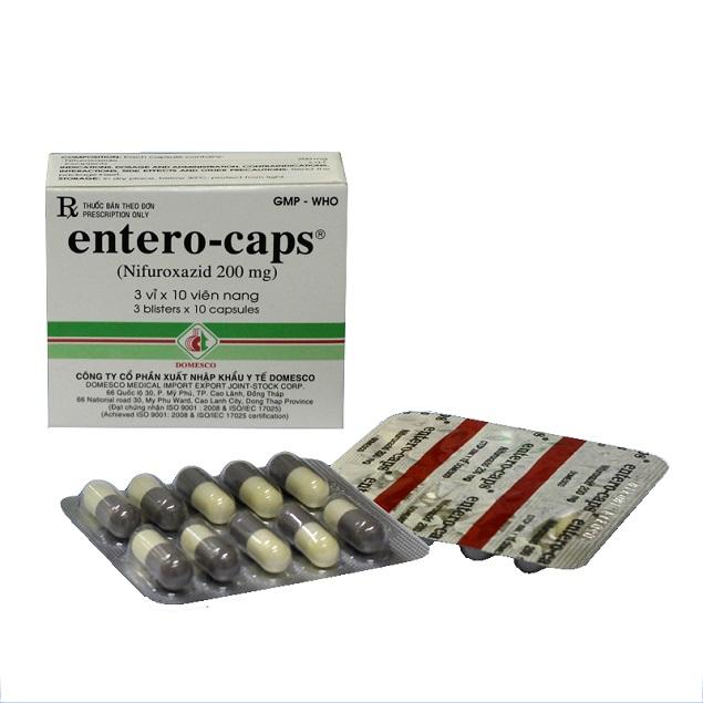 Thuốc Entero-caps 200mg Nifuroxazid điều trị tiêu chảy cấp tính do nhiễm khuẩn