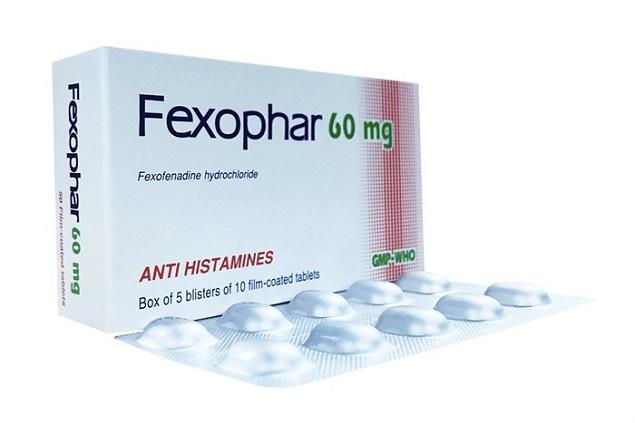 Thuốc Fexophar 60mg Fexofenadine hydrochloride điều trị các triệu chứng viêm mũi dị ứng