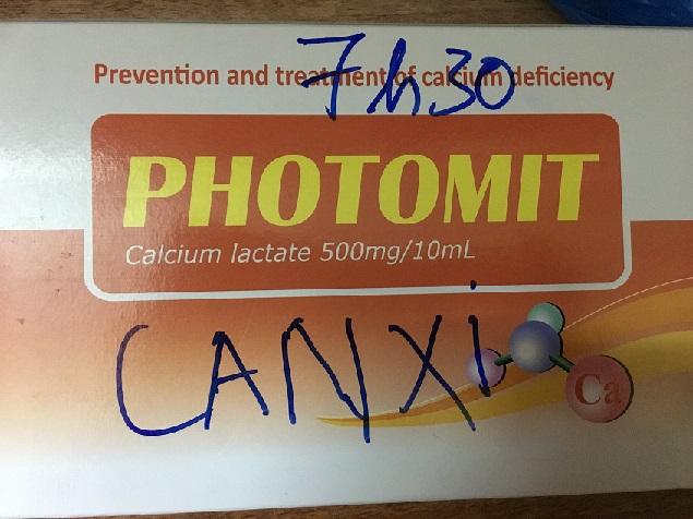 Thuốc Photomit 500mg/10ml Calci lactat tăng sức đề kháng cho cơ thể, ngăn ngừa các bệnh về xương
