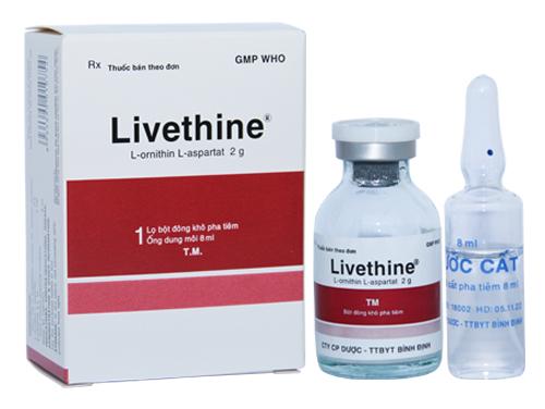 Thuốc Livethine 5g/10ml L-Ornithin-L-Aspartat hỗ trợ điều trị một số bệnh lý ở gan