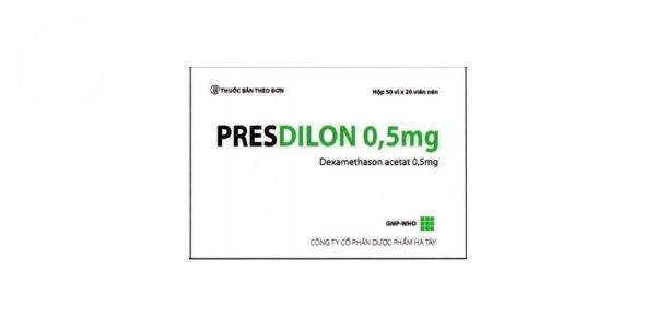 Thuốc Presdilon 0,5mg Dexamethason acetat kháng viêm
