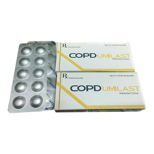 Thuốc Copdumilast 0,5mg Roflumilast điều trị bệnh phổi tắc nghẽn mạn tính