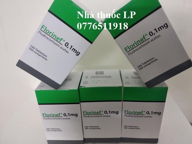 Thuốc Florinef 0.1mg Fludrocortison acetate điều trị bệnh Addison và hội chứng adrenogenital (2)