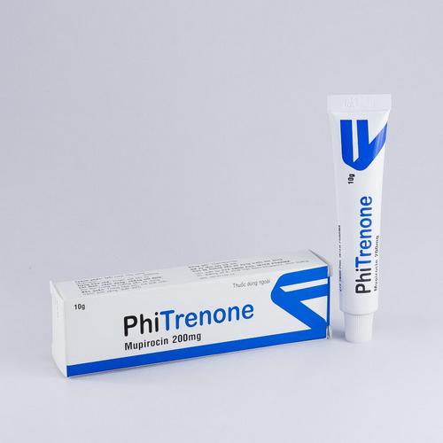 Thuốc Phitrenone 100mg Mupirocin điều trị các nhiễm khuẩn da do vi khuẩn như: chốc lở, viêm nang lông, nhọt