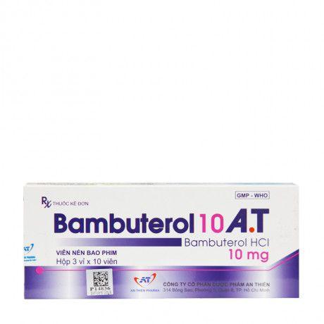 Thuốc Bamebin tablet 10mg Bambuterol hydroclorid điều trị hen phế quản, viêm phế quản mãn tính