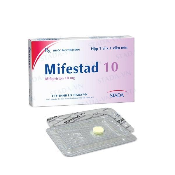 Thuốc Mifestad 10mg Mifepristone ngừa thai khẩn cấp