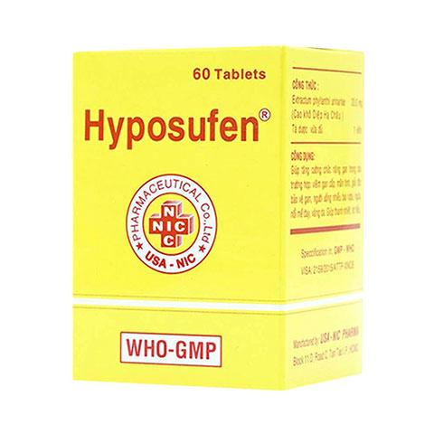 Thuốc Hyposufen 330mg sodium thiosulfate giúp giải độc, thông mật, trị dị ứng